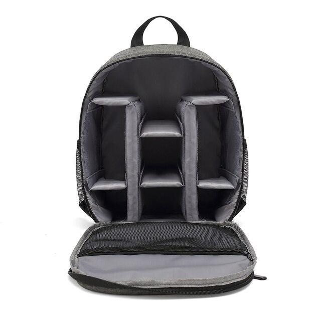 กล้องกันน้ำกระเป๋ากล้อง BackpackDSLR ขาตั้งกล้องแบบพกพากระเป๋าเลนส์กระเป๋ากล้องวิดีโอสำหรับ Canon Nikon SONY Xiaomi แล็ปท็อป
