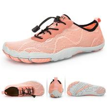 Buty z palcami dla kobiet Aqua buty trekkingowe szybkie suche męskie buty rybackie Outdoor Water pływanie trampki oddychające buty górskie tanie tanio RUMPRA WOMEN Pasuje prawda na wymiar weź swój normalny rozmiar Spring2019 Gumką Profesjonalne Szybkoschnący Elastycznej tkaniny