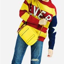 Vento Marea Yellow Shoulder Bags For Women 2019 Fashion Tassel Ladies Hand Pu Leather Flap Cross Body Purses And Handbags
