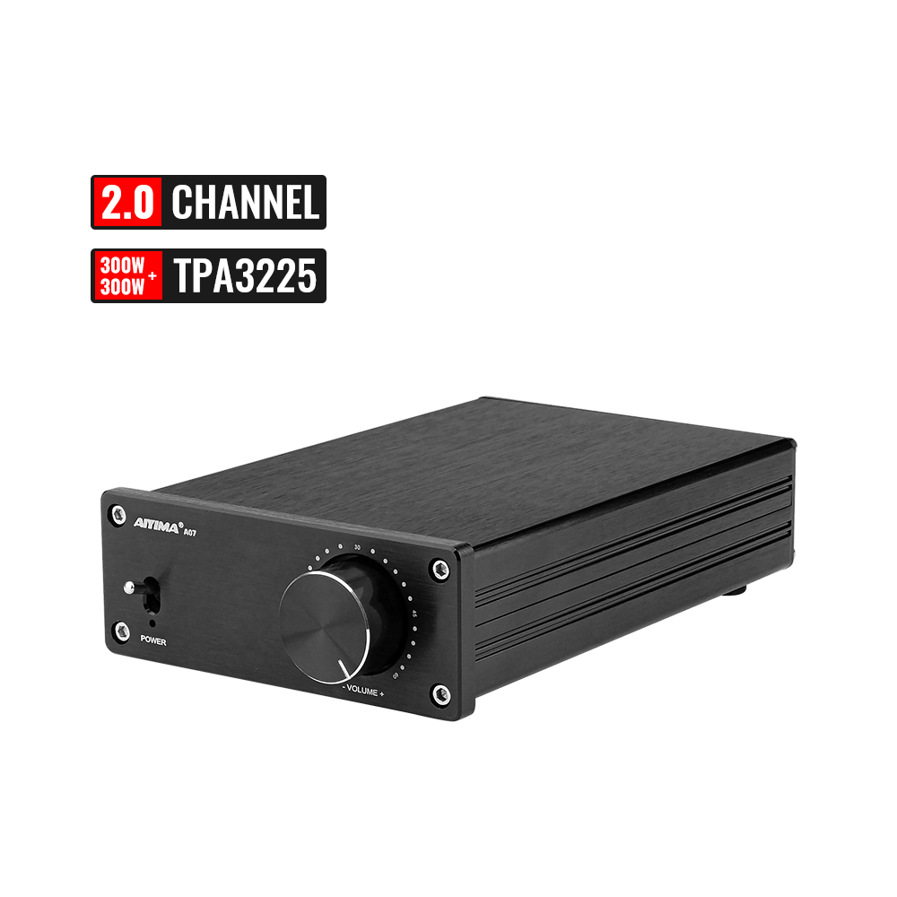 AIYIMA Mini HIFI TPA3255 Stereo 2.0 Channel 300W*2 High Power Digital Amplifier Class D Audio AMP For Home Sound Theater DIY