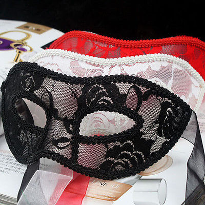 Black Red White Women Sexy Lace Eye Mask Party Masks For Masquerade Halloween Venetian Masquerade Masks(China)