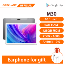 4G Phablet 10,1 Inch Tabletten Android 8,0 Teclast M30 4GB RAM 128GB ROM 2560x1600 Tablet PC MT6797 X27 Deca Core 7500mAh GPS