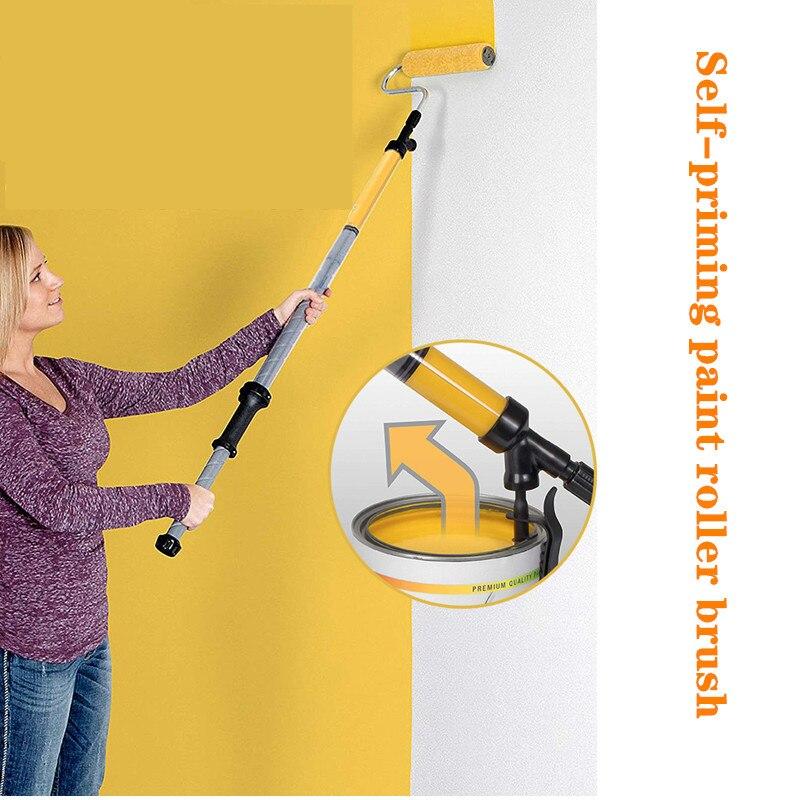 Roller Brush Latex Paint Paint Brush Printing Stretch Wool Brush Decoration Roller Coating Machine Magic Wall Tool