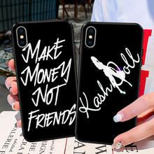 Make Money ไม่ Friends สำหรับ iPhone X 11 Pro XR XS MAX 5S 6 6S 8 7 Plus Case Soft TPU COVER สำหรับ Huawei Mate20 P20 Lite(China)