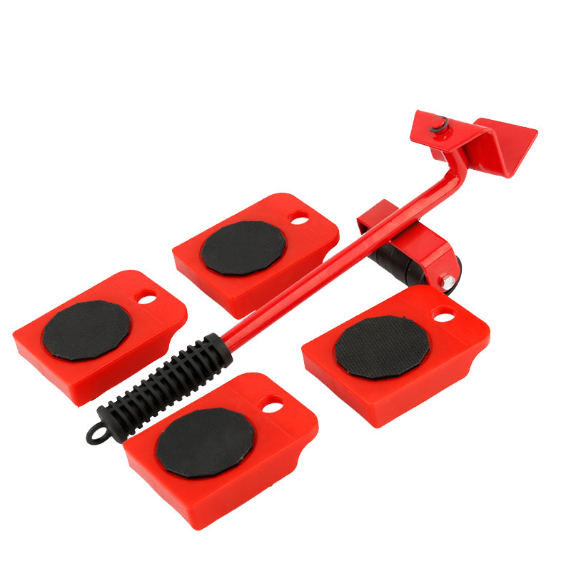 5PCS Multifunctional House Furniture Move Heavy Load Carrier Home Heavy Stuff Lifter Kit Profession Heavy Furniture Roller Set