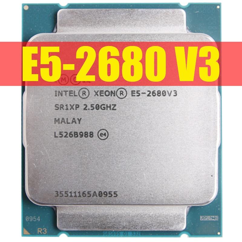Процессор Intel Xeon E5 2680 V3 SR1XP 2,5 ГГц 12 ядер 30 Мб разъем LGA 2011-3 ЦПУ E5 2680V3