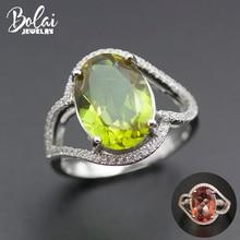 Bolai owalne 14*10mm pierścień Sultanit 925 srebro zmienia kolor Nano Diaspore wielobarwne kamień Fine Jewelry kobiet 11.11