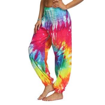 Pantalones harén de pierna ancha para mujer, ropa de fiesta de playa, elegante, de cintura alta, estilo bohemio