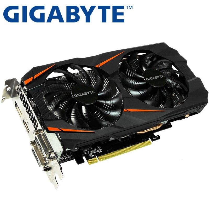 Видеокарта GIGABYTE GTX 1060, 3 ГБ, 192 бит, GDDR5, оригинальные б/у видеокарты для nVIDIA, видеокарты Geforce GTX 1050 Ti HDMI 750 960-1