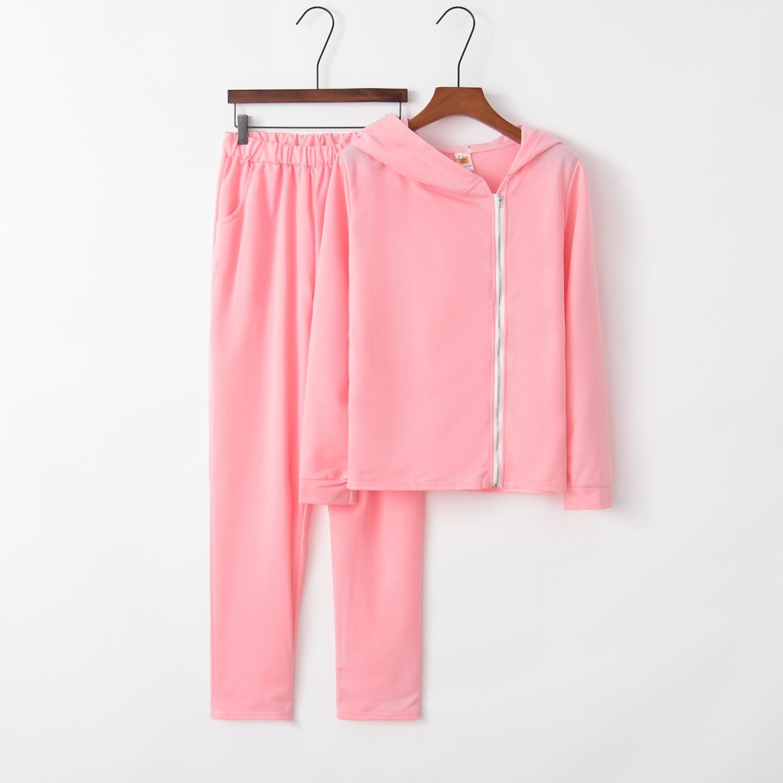 Zipper Solid 2020 New Design Fashion Hot Sale Suit Set Women Tracksuit Two-piece Style Outfit Sweatshirt Sport Wear