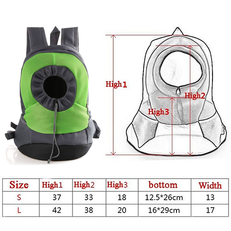 Plot - 2020 New Pet Carrier Dog Bag Backpack Bleathable Mesh Puppy Shoulder Bag Cat Chest bag