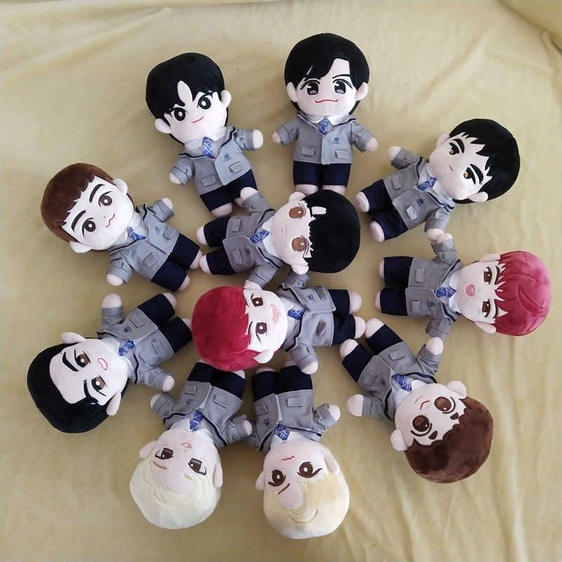 20cm Korea Plush Stuffed Dolls Toy Doll With Uniform Gift Toy Fanmde PP Cotton Dolls Soft Cartoon Toys Cute Fans Gift For Kid