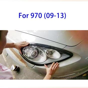 Real Crabon Fiber Head light Eyelid Eyebrow Cover Trim 1pair for Porsche Panamera  970 2009-2013   T152 1