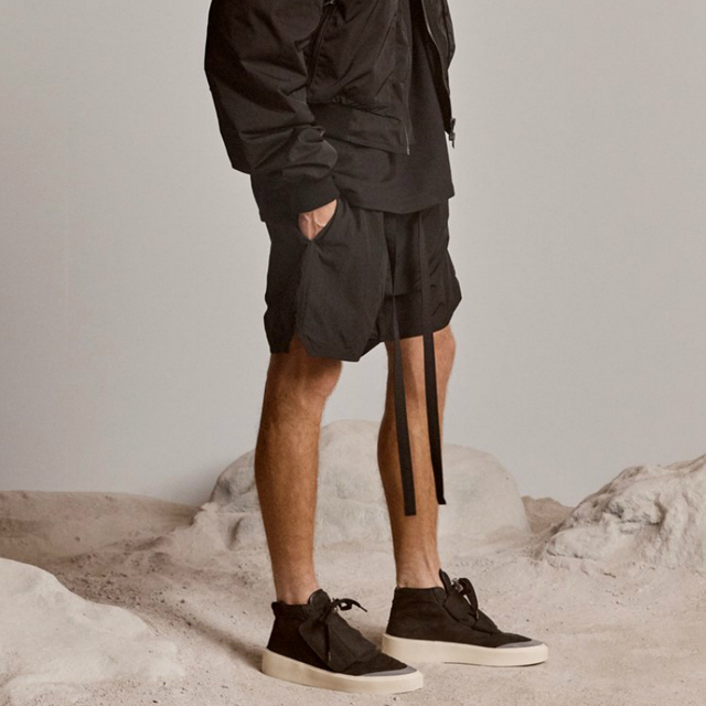 Best Version Blue Iridescent Belted Track Shorts Nylon Sweat Shorts Lined With Faux-suede