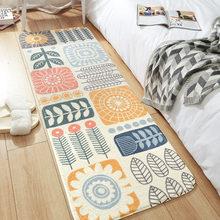 Современный простой домашний ковер с перекрестными краями для спальни, напольный коврик, длинный прикроватный кашемировый нескользящий ко...