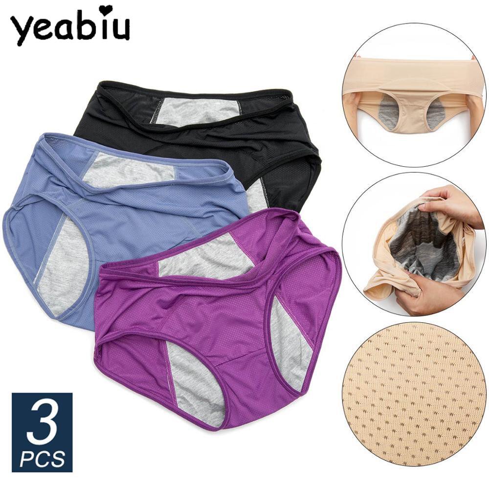 3pcs Leak Proof Menstrual Panties Cotton Panties Women Sexy Physiological Underwear Girls Period Waterproof Briefs Dropshipping
