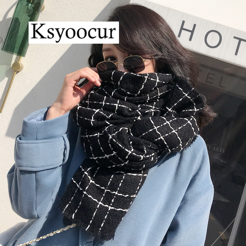 Size 200*75cm, 2020 New Autumn/Winter Long Section Cashmere Fashion Scarf Women Warm Shawls And Scarves Brand Ksyoocur E36