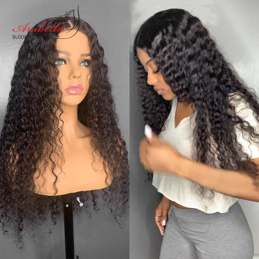 Deep Wave Lace Frontal Wig  Closure Wig Glueless 180 Density  Hair Lace Closure Wig With Baby Hair  3