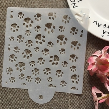 15cm Dog Cat Paw DIY Layering Stencils Wall Painting Scrapbook Coloring Embossing Album Decorative Card Template