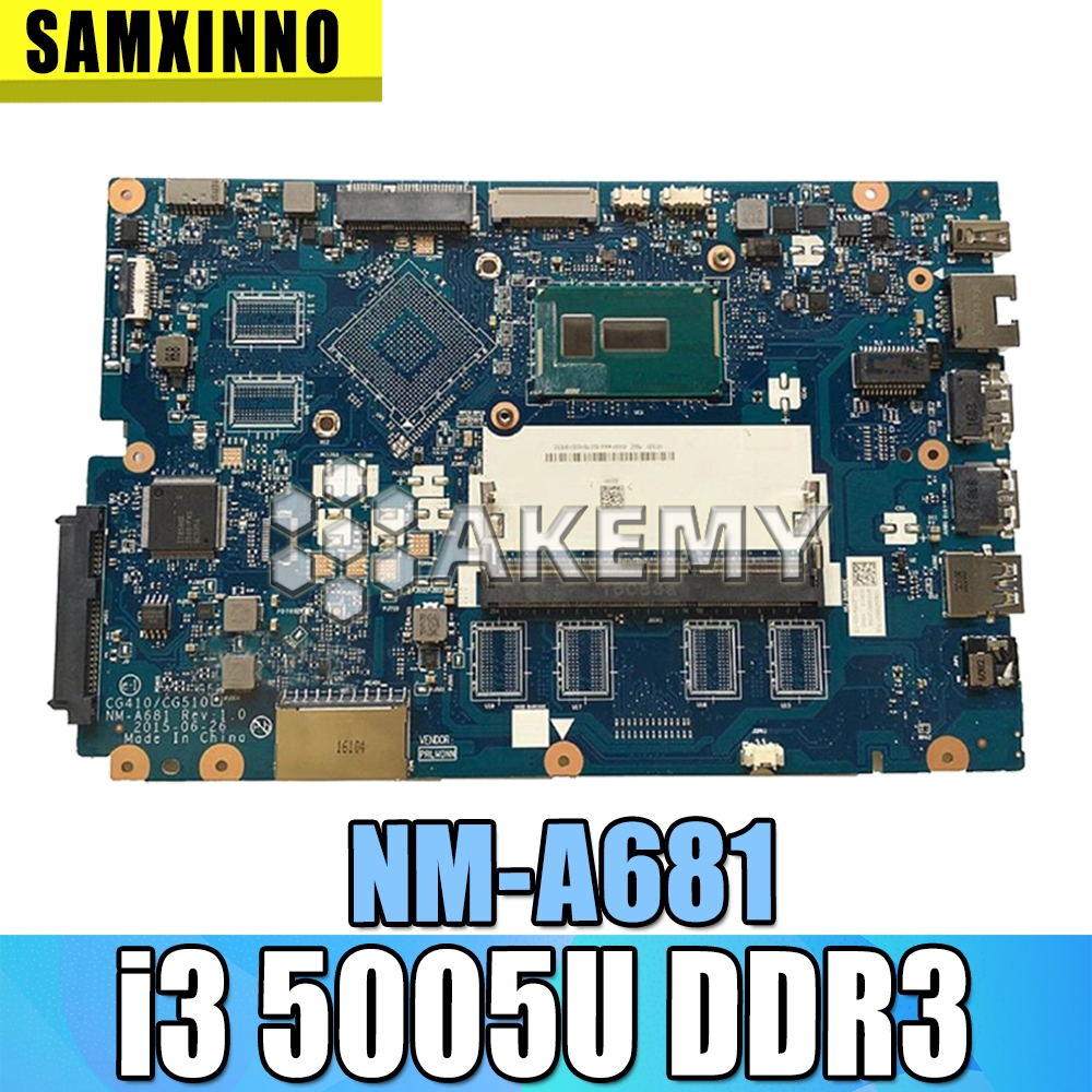 CG410 / CG510 NM-A681 motherboard For Lenovo B50-50 100-15IBD notebook motherboard CPU i3 5005U <font><b>DDR3</b></font> 100% test work image