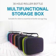 Essential Oil Case 30 Bottles 5ML Perfume Oil Essential Oil Box Travel Portable Carrying Holder Nail Polish Storage Bag