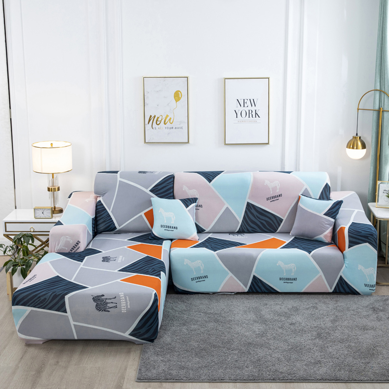 Elastic sofa cover L-shaped living room combination couch cover  funda sofa chaise lounge 1-person 2-person 3-person 1