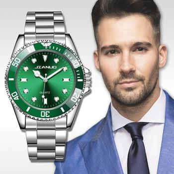 цена на Men's Watch New Luxury Brand Business Watch Men Waterproof Green Dial Watches Fashion Male Clock Wrist Watch Relogio Masculino