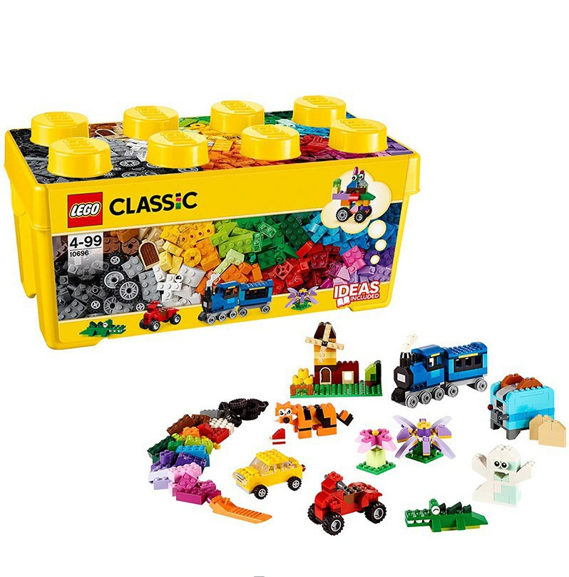 Shoppe Genuine Product Building Blocks <font><b>10696</b></font> Creative Medium Building Blocks Box Small Particles Brand See Image image