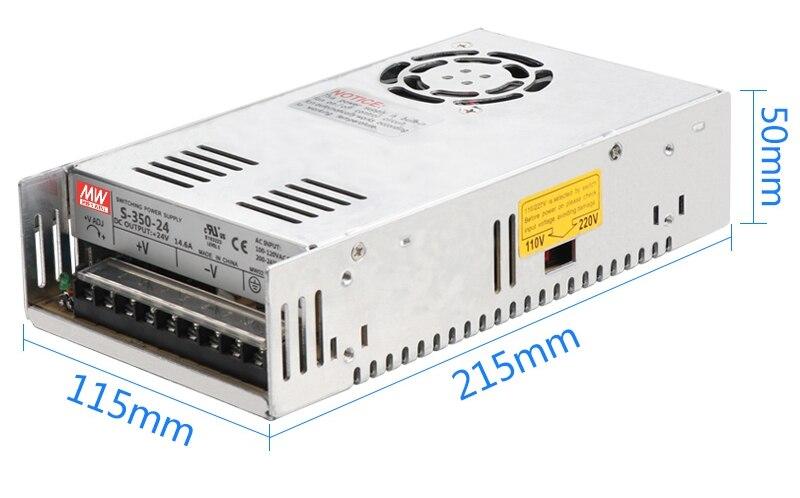 MW High quality DC5V 12V 15V 18V 24V 27V 36V 48V 60V 350W switching power supply DC power to 350W