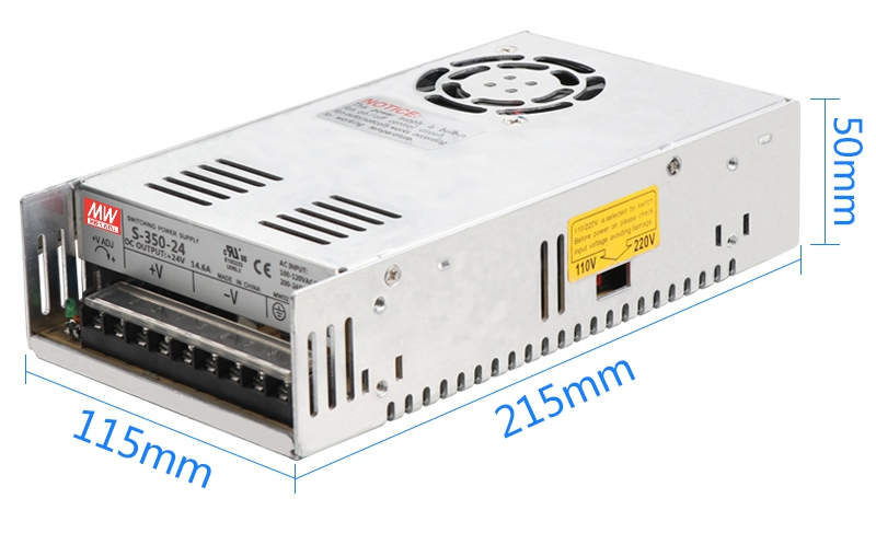 MW High quality <font><b>DC5V</b></font> 12V 15V 18V 24V 27V 36V <font><b>48V</b></font> 60V 350W switching power supply DC power to 350W image