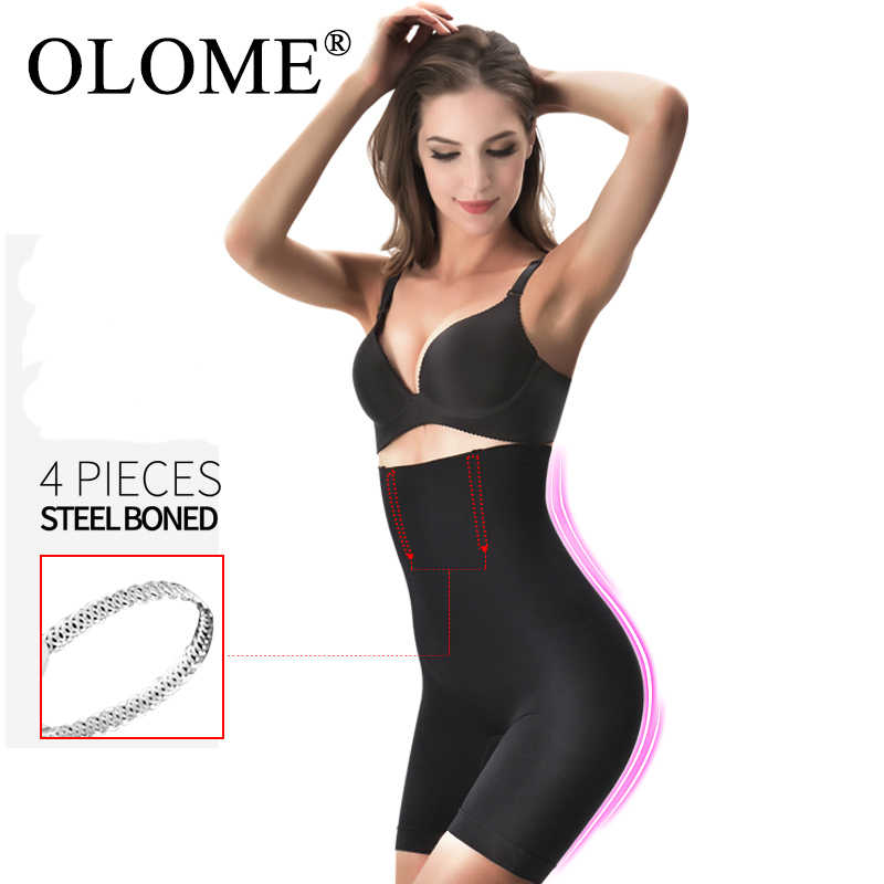 Mulheres De Cintura Alta Corpo Shaper bundas lifter instrutor Slimming Tummy controle Calcinhas Cintura modelador corporal feminino cueca cinta modeladora emagrecimento