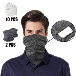 Outdoors Multi-purpose Bandanas Neck Gaiter With Safety Filters Unisex Anti-Dust Washable Sports Scarf For Men Women
