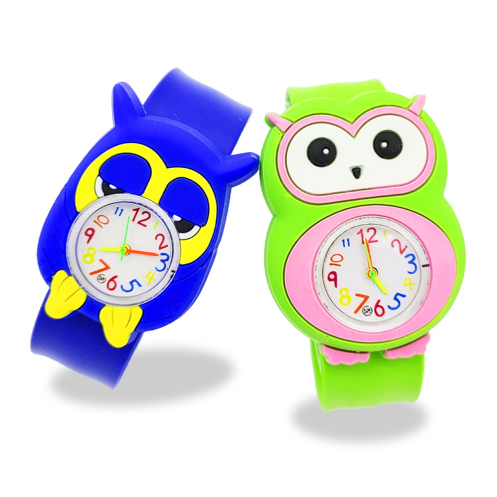 Childrens Cartoon Owl Watch Baby Toy Bracelet Acce