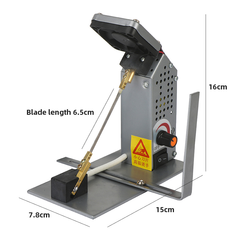 Купить с кэшбэком Temperature Adjustment Electro-Thermal Cutting Machine Cutting Tool Nylon Satin Heating Ribbon Cutting Machine