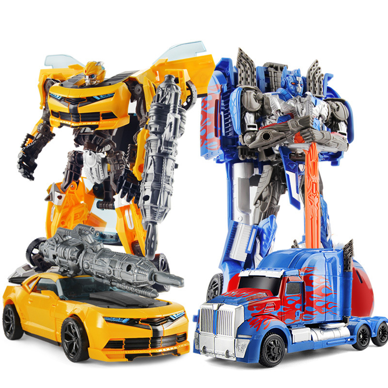 27cm Transformation Robot Toys Car Series Anime Optimus Prime Hornet Plastic ABS Deformation Robot For Kids Boy Toys With Box image