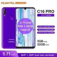 OUKITEL 4G LTE telefon komórkowy C16 Pro 5.71 cal Android 9.0 19:9 Waterdrop telefon komórkowy MT6761P Quad 3GB pamięci RAM 32GB ROM smartfon