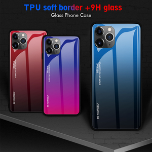 Image 3 - 10 Pieces Tempered Glass Phone Case For Apple iPhone 11 Pro XS Max XR X 8 Plus 7 6 6S Gradient Color Bumper Protective Cover