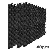 12/24/36/48pcs isolamento acústico espuma estúdio painéis acústicos som-absorvente cunha espuma 1x12x12 polegadas painel de tratamento de som