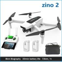 Hubsan-Dron teledirigido con cámara Uhd, cuadricóptero con Gps, 8km, Fpv, 4k-60fps, 3 ejes, cardán, Rtf, 33 minutos, Fly Drone Hubsan Zino 2, 2,0