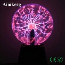 Lámpara de bola de Plasma táctil de Lava para niños, LED mágica USB de luz nocturna 3/4/5/6 pulgadas, regalo para niños, iluminación de decoración de dormitorio de Navidad, novedad de 2020
