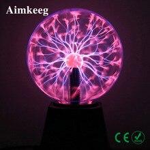Novelty 2021 Plasma Ball Lamp Touch Lava Lamp LED Magic Night Light USB EU 3/4/5/6inch Kid Gift Christmas Bedroom Decor Lighting