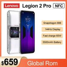 Oryginalny Lenovo Legion 2 Pro 5G Smartphone Snapdragon 888 5500mAh Android 11 144Hz wyświetlacz AMOLED Legion 2 Pro telefon komórkowy