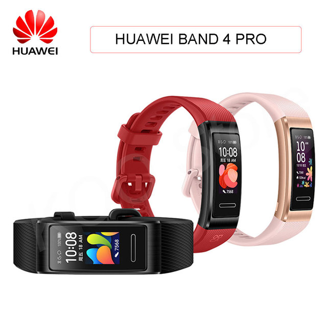 Huawei Band 4 Pro Smart Band Heart Rate Health Monitor Standalone GPS Proactive Health Monitoring SpO2 Blood Oxygen Wristband