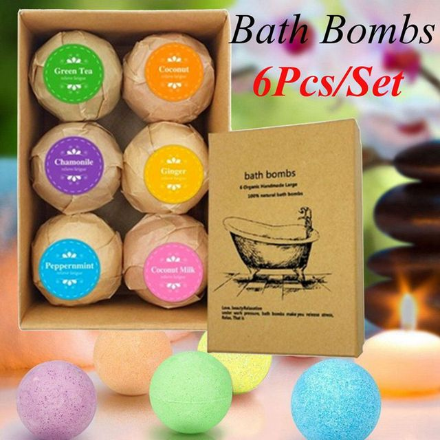 6pcs Deep Bath Salt Body Oil Moisturizing Bath Ball Natural Bubble Bath Salt Ball 1