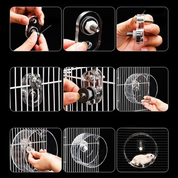 Clear Hamster Running Exercise Wheel Ball Pet Toy For Small Animal Hamster Rat Chinchilla Mice Jogging Training Toy 5