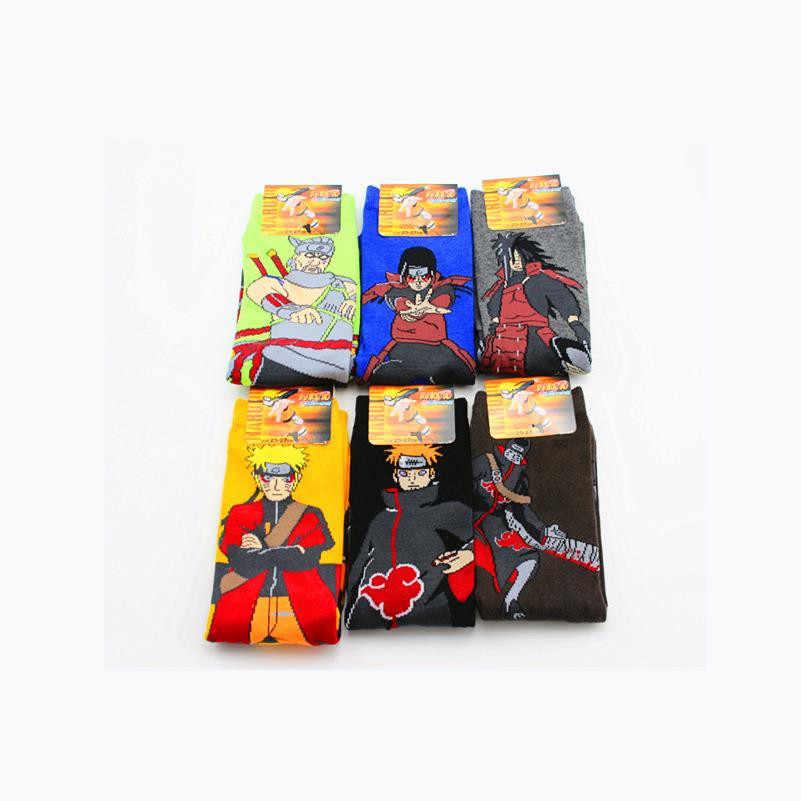 Anime NARUTO Uzumaki Naruto Cosplay Accessori In Cotone Calzino Akatsuki Nuvola Rossa Simbolo Calze E Autoreggenti Bambino Adulto Tubo Calzini E Calzettoni Regali di Nuovo