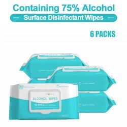 50 unids/pack 75% toallitas húmedas con Alcohol, toallitas desechables para manos, toallitas húmedas desinfectantes, toallitas húmedas para la protección diaria del hogar