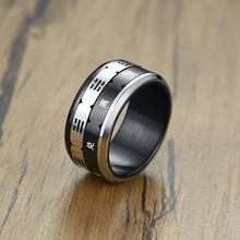 Модное мужское кольцо черного цвета дружбы индивидуальная из
