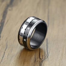 Fashion Black Color Men Ring Friendship Male Ring Stainless Steel Personality Spinner Rings Man Jewelry Accessories fashion stainless steel silver color men spinner ring punk jewelry personality male rings size 7 8 9 10 11 12
