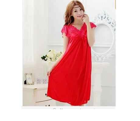 شحن مجاني المرأة الأحمر الدانتيل مثير باس النوم الفتيات زائد حجم كبير حجم ملابس خاصة ثوب النوم فستان سهرة تنورة Y02-4